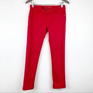 DL1961 Toni High Rise Cropped Jeans in Red